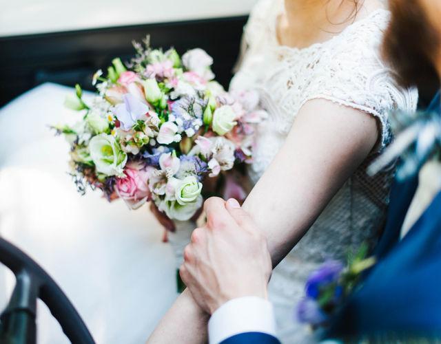 bunter Brautstrauß in weichem pastell