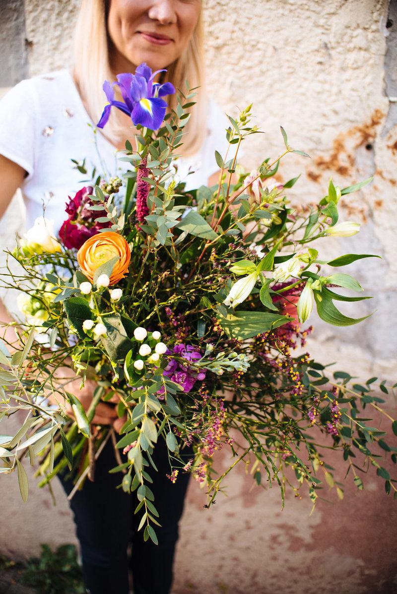 Wildflower Workshop Blumenstrauß mit Ranunkeln