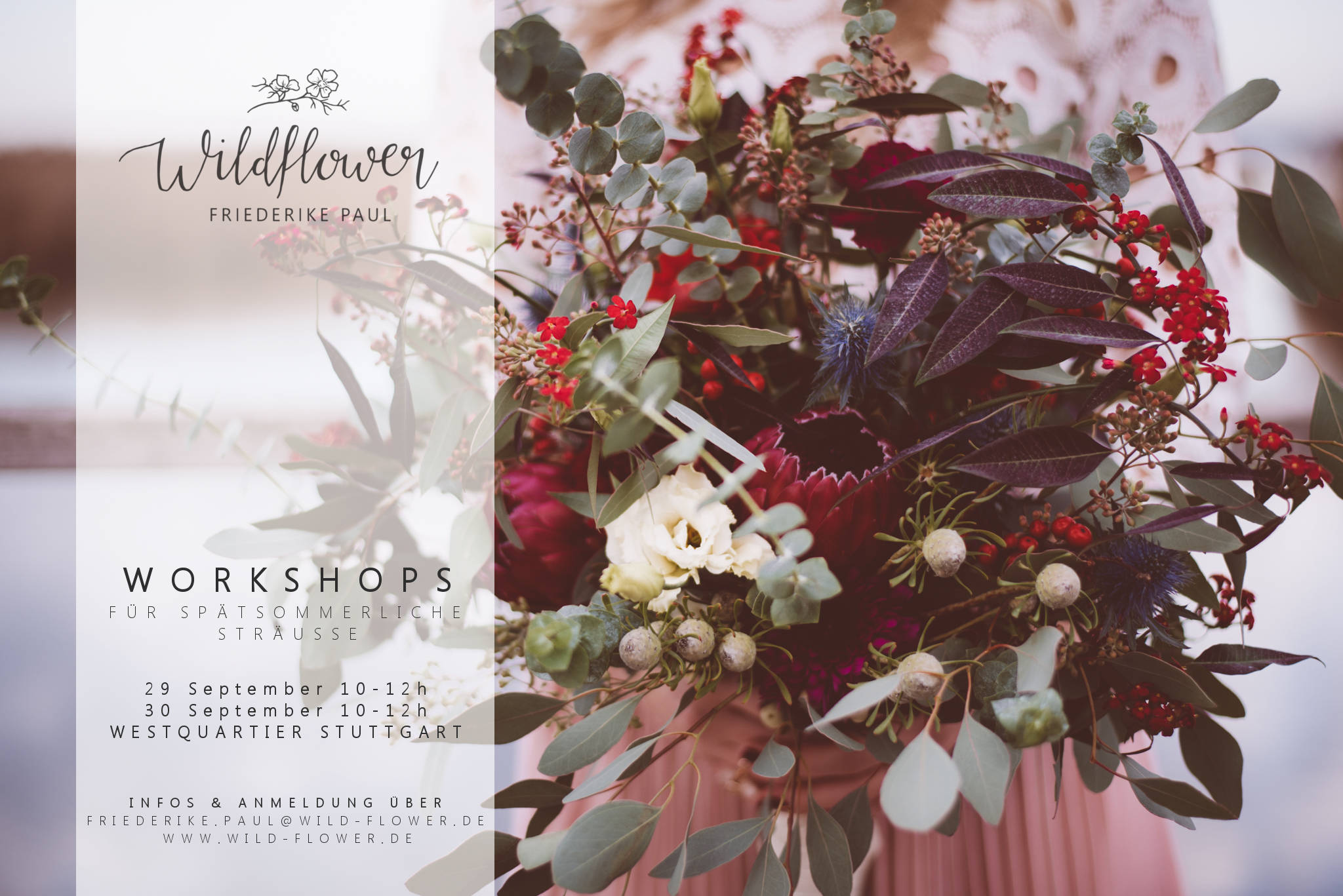 Wildflower Workshop Blumen Strauß Stuttgart